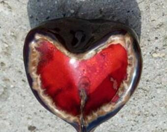 Ceramic Heart Bright Red Original Gift Home Decor Ceramic Heart Bright Red Original Gift Home Decor Ceramic Heart Bright Red Original Gift