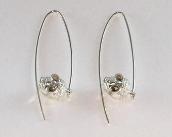 Skull made of sterling silver earrings