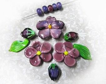 "Set of beads ""Parma violet"""