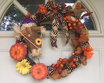 """14"""" Fall, Thanksgiving Home Decor Wreath, Door Wreath, Wall Decor"""