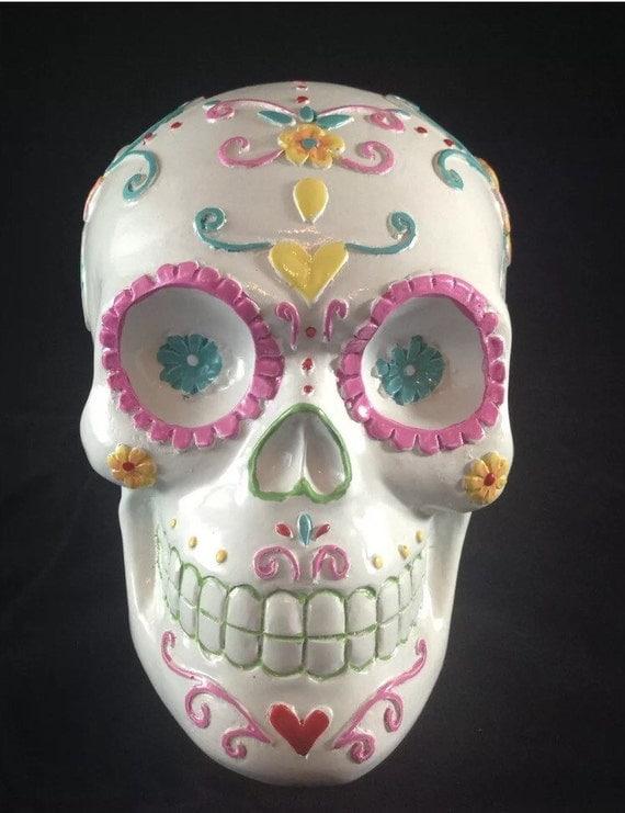 White Sugar Skull Calavera Tradition Altar Decor