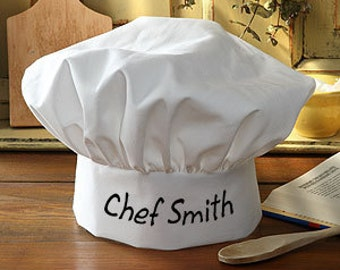 Chef Hat, Personalized White Chef Hat, Baking Hat, Cooking Hat, Kids Chef Hat, Cooking Party, Food, Cooking Outfit