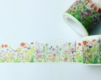Poppy meadow washi tape