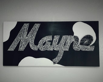 Custom String Art Word Sign