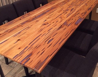 Dining Table Top With Resin Inlay