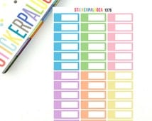 32 Appointment Headers, Pastel Quarter Boxes, Appointment Planner Stickers,  1375