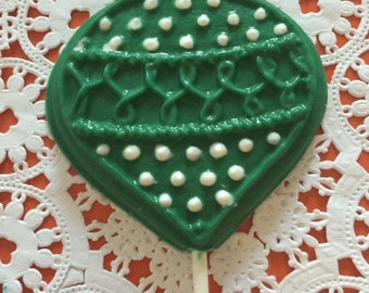 CHRISTMAS ORNAMENT CHOCOLATE Lollipop - Christmas Party/Christmas Exchange Party/ School Party