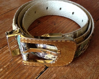 1980s Christian Dior Snakeskin Belt
