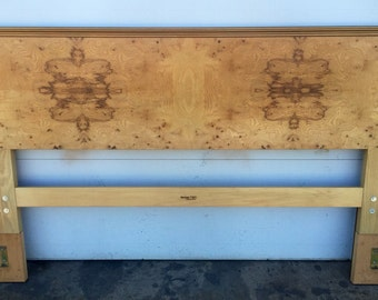 Henredon Scene Two Burlwood King Size Headboard