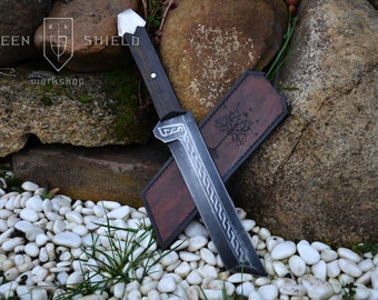Dwarven knife of the First age -Handmade, Sheath included