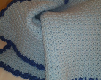 Cloudy Blue Baby Throw Blanket