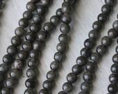 6mm Round Dark Gray Beads Dark Gray Jade Candy Jade Colored Jade Custom Jewelry Supply Mountain Jade Y014