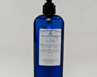 Baby's Massage Oil 8 oz. organic all natural aromatherapy
