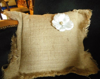 Cushion decorative; up cycling; Natural jute; made in France