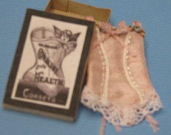 1:12 Dollhouse Miniature Corset Kit/ DIY Miniatures DI DF302