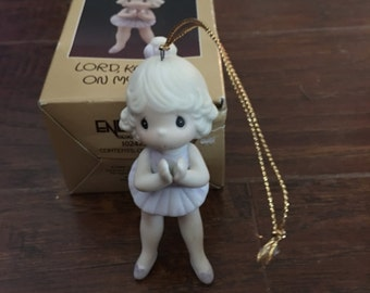 Vintage Precious Moments Ornament Lord Keep Me on My Toes - Retired and Rare