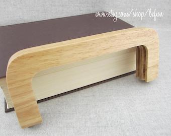 24cm Natural Color Wooden Purse Frame Wood Clutch Bag Handle, one piece