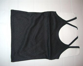 Black Color Woman Top with double straps - Smal Size - S