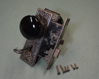 Vintage Lockset, Mortise Lock, Eastlake Lock Parts, #359