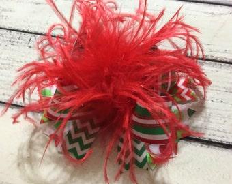 Christmas Over The Top Hair Bow Christmas Hair Bows Over The Top Bows Baby Headband Girls Hair Bows Holiday Hair Bows