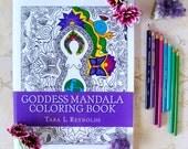 Adult Coloring Book, Goddess Art, Pagan Art, Mandala Coloring Book, Coloring Pages for Adults, Coloring Book, Gift for Her, Fantasy Art