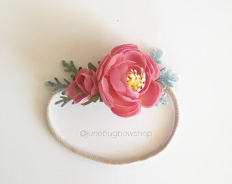 PINK petite flower crown