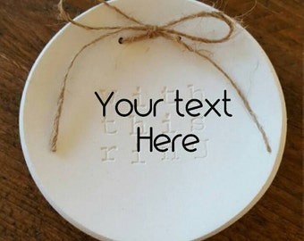 Personalized Ring Dish ~ Your Text ~ Customized Ring Dish ~ Wedding Ring Dish ~ Ring Bearer