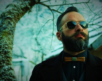 WOODEN BOW TIE olive tree wood