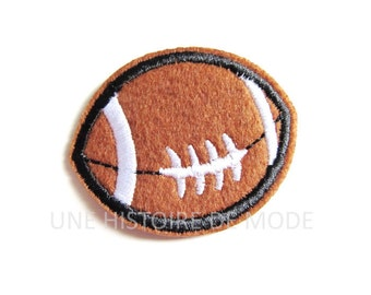 Patch coat jacket rugby ball to sew or iron 50 x 40 mm
