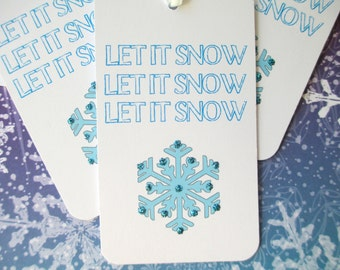 Christmas Tags-Let It Snow-Set of 8
