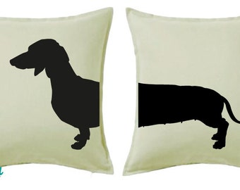 Dachshund Split Cushion Covers