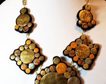 Shiny Bubbles Statement Necklace