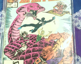 1984 Marvel Team Up Spiderman and Alpha Flight Comic In Plastic Protective Sleeve