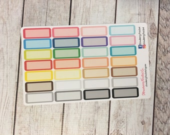 Quarter Boxes with Blockout Planner Stickers - Made to fit Vertical or Horizontal Layout