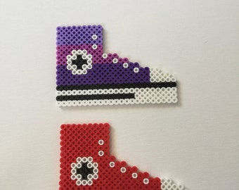 2 Converse Perler Bead