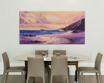 Large Seascape Painting, Fine Art, Painting, Beach, Seascape Ocean Waves, Beach Painting, Coastal Art, Large Oil Painting on Canvas,