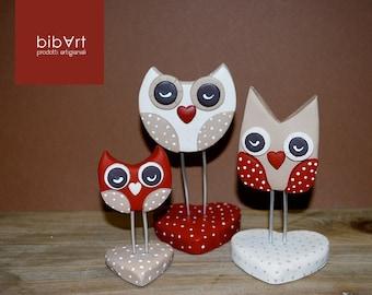 Wedding favor memo holder OWL