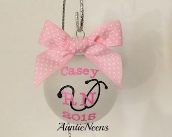 Nurse Christmas Ornament, Christmas Gift, RN Gift, Nursing student Gift, Daughter Gift, Friend Gift, Favorite Nurse Gift