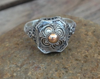 The Rosary Shield Ring