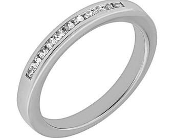 Channel Set Diamond Wedding Band, Womens Channel Set Diamond Wedding Band, Womens Wedding Band, Womens Diamond Band