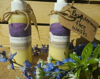 All Natural Brightening Face Wash- Brightening face Wash- Brightening Facial Cleanser- Face Wash- Facial Cleanser- Face Cleanser- Face soap