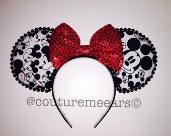 Faces of Mickey - Minnie Mickey Mouse ears