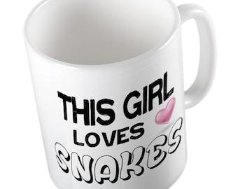 This Girl loves SNAKES Mug