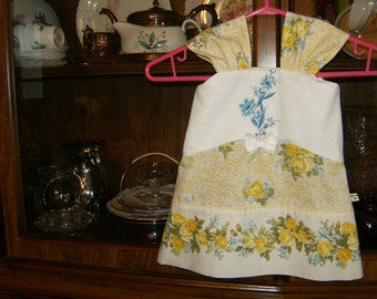 Baby Girl Dress 6-8mos., Vintage Dress 6-8mos., Baby Jumper 6-8mos.Infant Dress 6-8 mos., Upcycled Dress 6-8mo., Embroidered Dress 6-8mos.