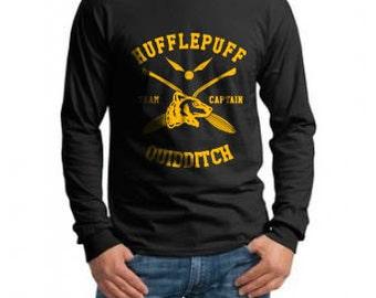 CAPTAIN - Huffle Quidditch team Captain on Longsleeve MEN tee