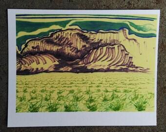 Abstract Sandia Mountains Postcard