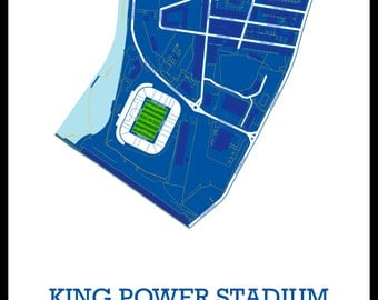 Leicester City FC - A3 map art