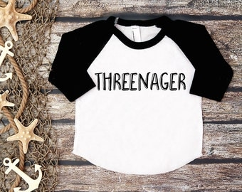 Threenager Shirt; Third Birthday Shirt; 3rd Birthday; 3rd Birthday Shirt; Three;