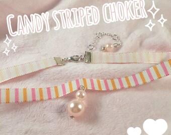 Candy stripped choker