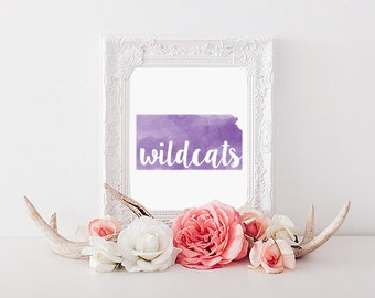 Kansas State University Wildcats Printable (8x10)